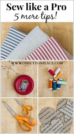 5 great tips that will give you professional results so you can sew like a pro! #sew