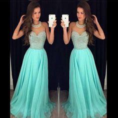 Prom Dress, A-line Prom Dress, Halter Prom Dress, Chiffon Prom Dress With…