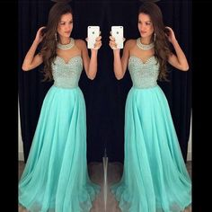 Prom Dress, A-line Prom Dress, Halter Prom Dress, Chiffon Prom Dress With…
