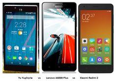 Yu Yuphoria vs Lenovo A6000 Plus vs Xiaomi Redmi 2: Comparison With Video