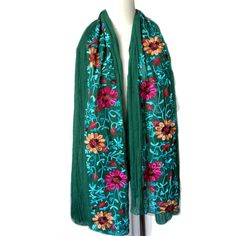 US Vendeur-Rétro Floral Paisley Gold Thread Pashmina Shawl Scarf Fashion Head