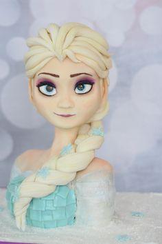 Awesome cakes and cupcakes inspired by the hit Disney movie Frozen Disney Frozen Cake, Disney Cakes, Frozen Party, Frozen Birthday, Cake Birthday, Disney Gefroren, Frozen Theme, Princess Disney, Birthday Parties