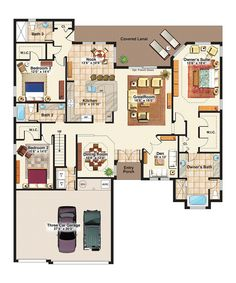 Interesting floor plan some things i like about it for Family home plans 82230