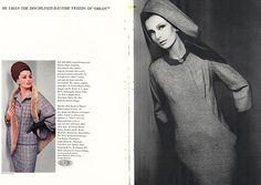 Paper Pursuits: fashion and design print collectibles -- Vintage Vogue, Harpers Bazaar, Couturier Patterns, Fashion Ads and Books 1963 Dorothea McGowan (l)