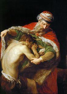 Retour du fils prodigue, par Pompeo Batoni.