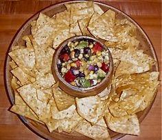 Black Bean, Corn  Avocado Dip! The perfect summer appetizer! #SkinnyMom