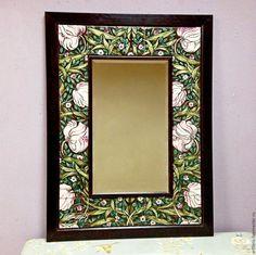 Купить Зеркало Морисс орнамент - зеркало, зеркало в раме, зеркало с рамой, зеркало настенное
