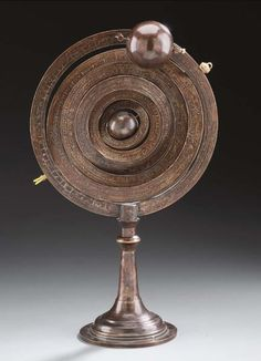 Islamic armillary sphere, brass, 19th century.