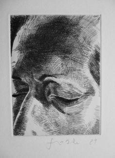 Johannes Grützke, Vom Gesicht, Radierung, signiert in Antiquitäten & Kunst, Grafik, Drucke, Originaldrucke 1950-1999, Radierungen   eBay