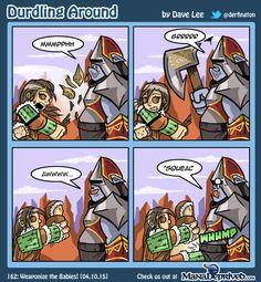 Den Protector has a secret weapon...