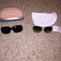 Tory Burch and Marc by Marc Jacobs sunglasses Both pair are a bundle. Selling together for $50 originally paid WAYYY more than this. They are both authentic. I can't find original cases so I am shipping them both in authentic Dior cases. Both in good condition if any scratches they are minor and nothing you can really notice. Very good deal. Tory Burch Accessories Sunglasses