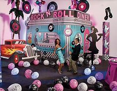 """Fifty's themed """"Diner"""" Party! Super creative and fun! Who wouldn't love to have a party like this?"""