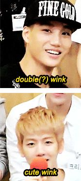 exo's different types of wink ;D  (GIF)