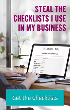 Steal the checklists I use in my business! // Systems Rock