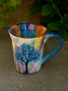 Mingle With The Colors of Nature Mug by lilbutterball on Etsy, $20.00  I dropped the price!
