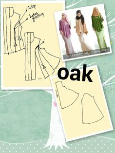 Kebaya Sewing Art, Dress Sewing Patterns, Clothing Patterns, Sewing Clothes, Diy Clothes, Sewing Tutorials, Sewing Projects, Fashion Sketch Template, Modelista