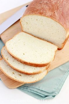 This homemade bread recipe is light but thick enough for sandwiches. Easy to make and oh so yummy!