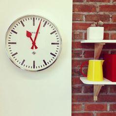 Newgate Putney Clock - Chrome - 45cm station wall clock