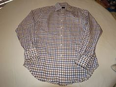 Mens Scott Barber S cotton shirt button up short sleeve EUC @ #ScottBarber #ButtonFront