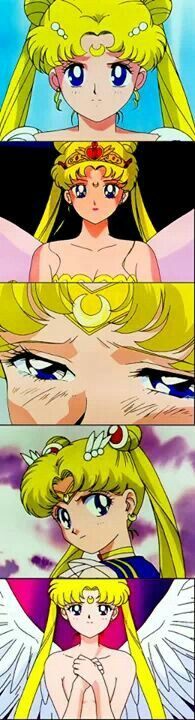 Sailor moon's determination through the original anime series, so inspiring!! this is one of many reasons why I love Sailor Moon so much!! : )