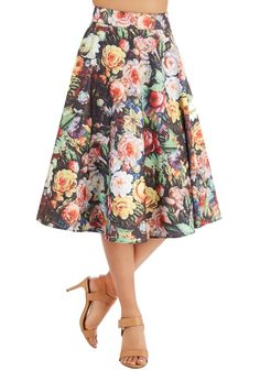 Bottoms - Painted Posies Skirt