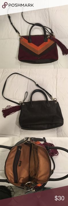 Guess satchel Only use once,bought at Macys suede on the front Guess Bags Satchels