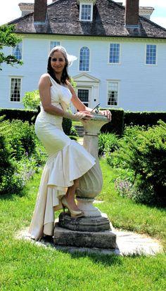 LIZ Vintage Style Wedding Dress Hollywood Glam by SashCouture1, $2150.00