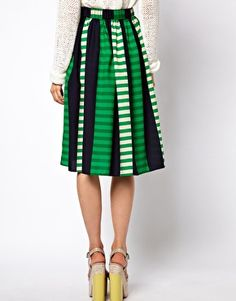 Enlarge ASOS Midi Skirt in Stripe. Oh...I might need this.