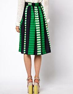 Enlarge ASOS Midi Skirt in Stripe