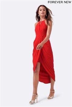 Women's Clothing Dresses Uk 16 Dynamic Karen Millen Bodycon Red/white Floral Dress