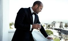 Statham and a bow tie.