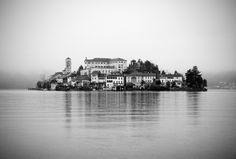 the silent kingdom. San Giulio Island, Orta lake. North Italy