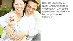 Get Cash Advance within 24 Hours. Apply for Payday Loan Online for Quick Money to Your Bank Account..! http://www.fast-cash-advance-loans.com