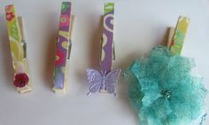 Altered Decoupaged Clothes Pin Mod Podge Dimensional Magic Tutorial