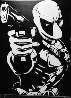 Dead Pool Painting on Canvas by on Etsy Drawing Sketches, Art Drawings, Pool Paint, Deadpool Art, Marvel Drawings, Marvel Wallpaper, Arte Horror, Silhouette Art, Stencil Art