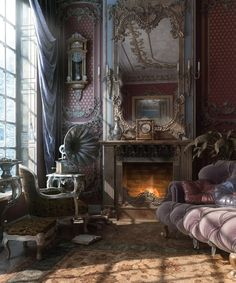 The Queen Mother's old and rather lonely room.