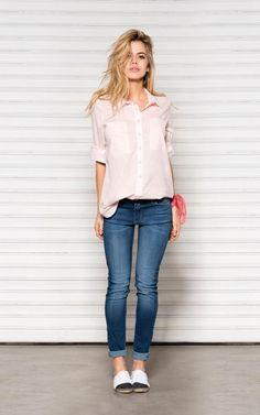 //LOOK 25 ..::Camisa Lou ..::Jean chupín celeste
