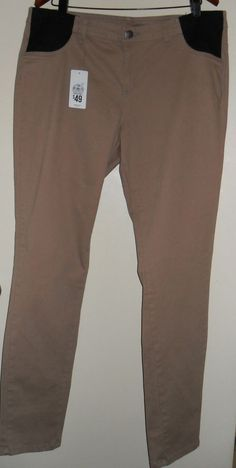 target maternity pants size 18 skinny leg cargo neutral/tan new with tag