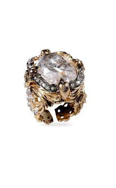 Ring - ROBERTO CAVALLI - Metal, Stone, Swarovski