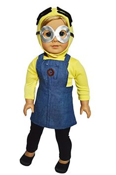 abf8dbb964 My Brittany s Minion Inspired Outfit for American Girl Dolls and My Life as  Dolls- 18 Inch Doll Clothes-Fits 18 Inch American Girl Dolls and My Life as  ...