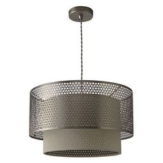 BuyJohn Lewis Meena Fretwork Steel Pendant Light Online at johnlewis.com