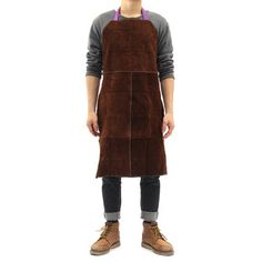 Independent 93x64cm Yellow Cow Leather Welders Apron Welding Heat Insulation Protection Blacksmith Mechanic Smock Workplace Safety Clothing Safety Clothing