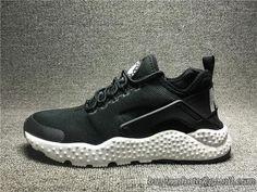 3a7db7405e7e6 Nike Air Huarache High Quality Mesh Breathable running shoes 819151-001  Black White