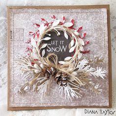 Pine cone Christmas card by Velvet Moth Studio