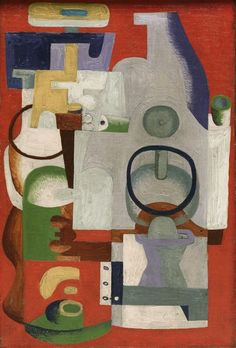 """Le Corbusier (Charles-Édouard Jeanneret), """"Abstract Composition"""", oil on canvas, 1927. The Art Institute of Chicago."""