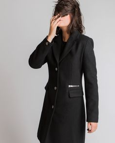 Carly Coat | MADA Boutique Online Boutiques, All Black, Clothes For Women, My Style, Coat, Womens Fashion, Jackets, Shopping, Outerwear Women