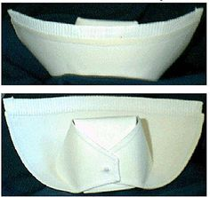 Pattern for nurse's cap. Works for child if shrink pattern. Cut from fabric with seam allowance added. Nice!