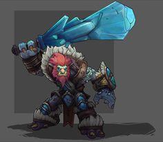 Trundle, league of legends, frost troll.