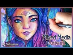"""Sanja"" - Artwork time lapse Watercolors, Copic Markers and Colored Pencils by Sakuems - YouTube"