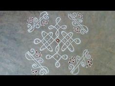 Rangoli Side Designs, Simple Rangoli Designs Images, Rangoli Borders, Free Hand Rangoli Design, Small Rangoli Design, Rangoli Patterns, Rangoli Designs Diwali, Rangoli Designs With Dots, Rangoli With Dots
